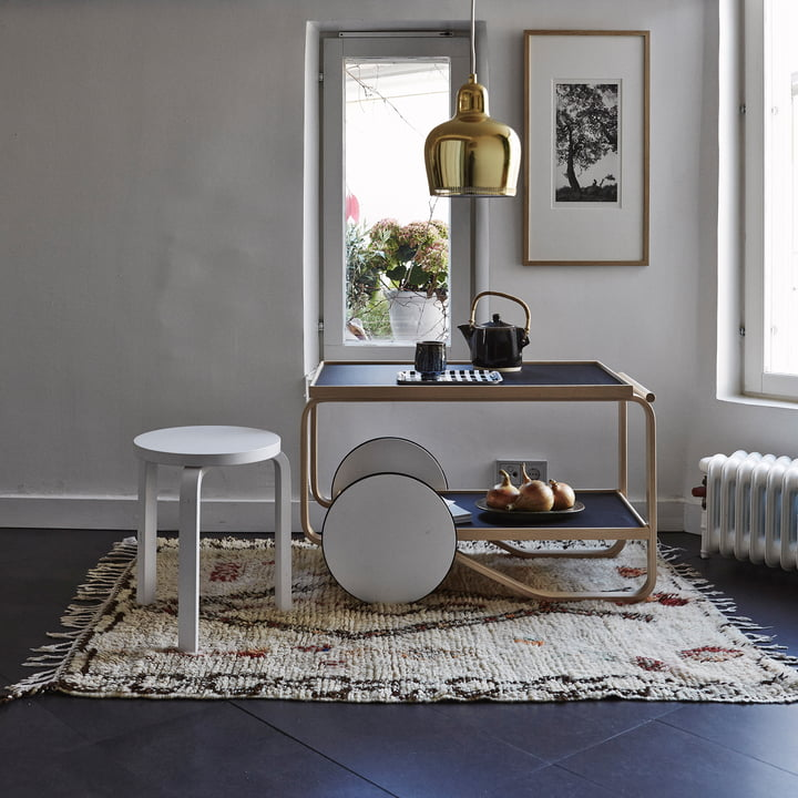 Artek - Trolley 901 with stool 60