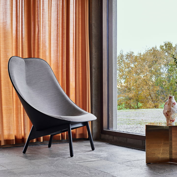Uchiwa Armchair by Hay in Gray