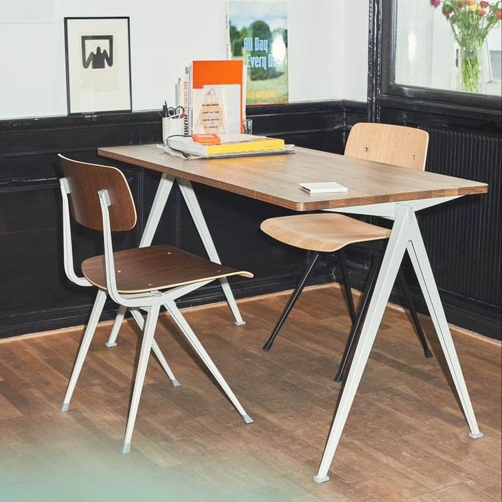 Pyramid Table by Hay with the Result Chairs