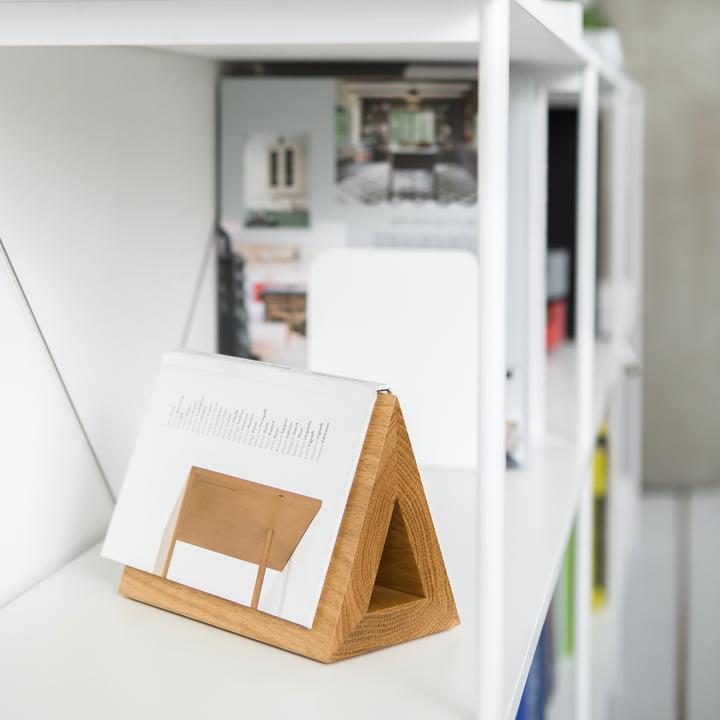 Triangular Made of Oak Wood for Books