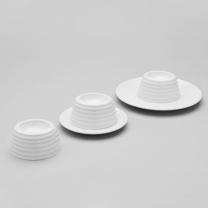 Ono Egg Cups by Thomas in White
