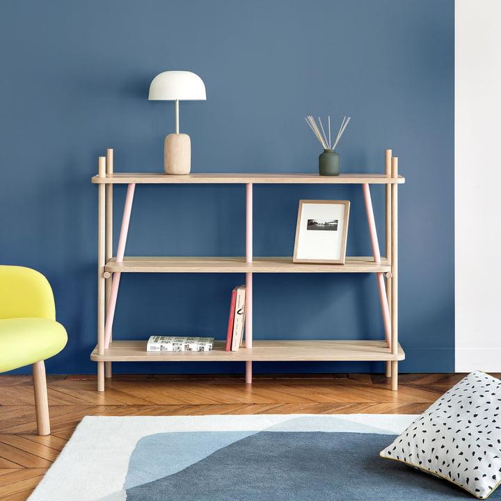 Simone Bookshelf and Nina Table Lamp by Hartô