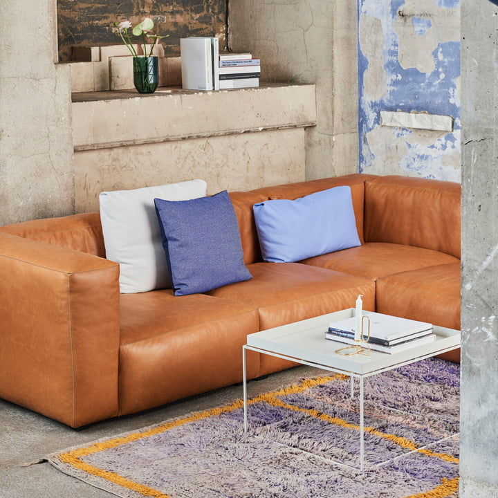 Hay - Mags Soft Sofa in Leather 0250 Cognac