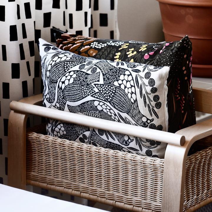 The Marimekko - Kiiruna Cushion Cover in Black / White