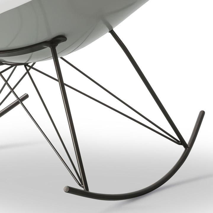 The Fredericia - Stingray Rocking Chair in Matt White / Flint
