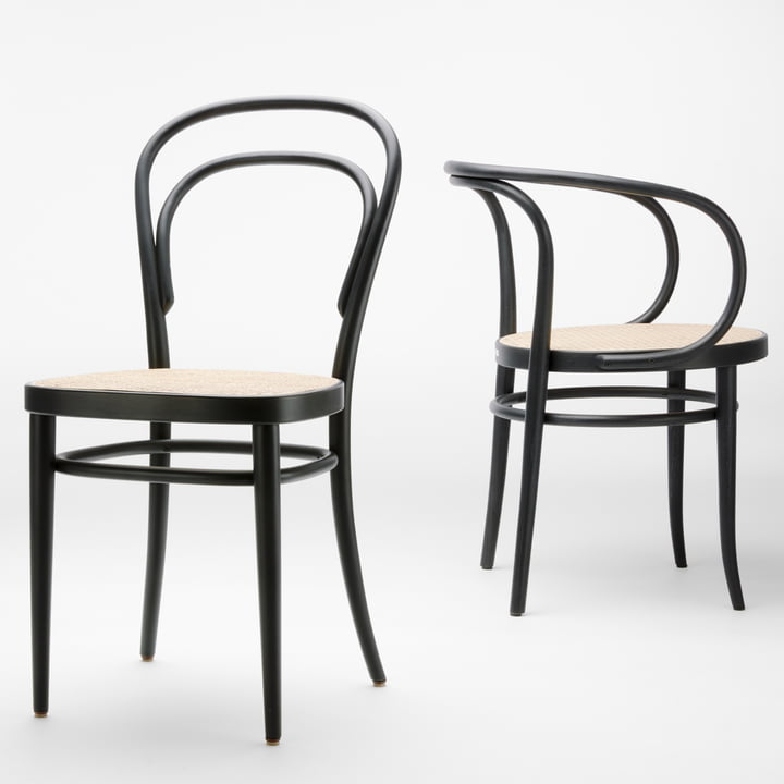 Coffee House Chairs 209 and 214 by Thonet