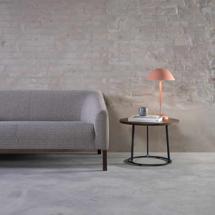 Fredericia - Barbry Coffee Table H 40.5 cm in Smoked Oak / Black