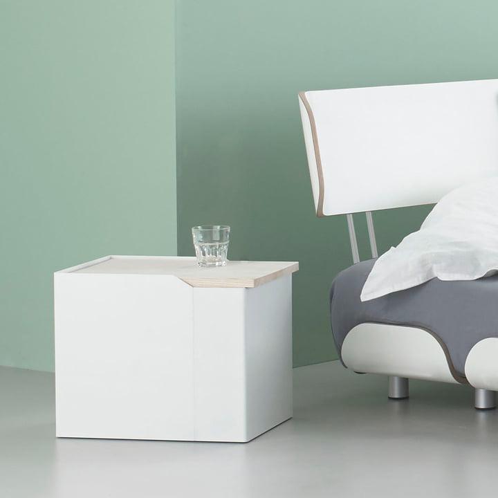 Stadnomaden - Sammler Storage Container S in Ash as Bedside Table