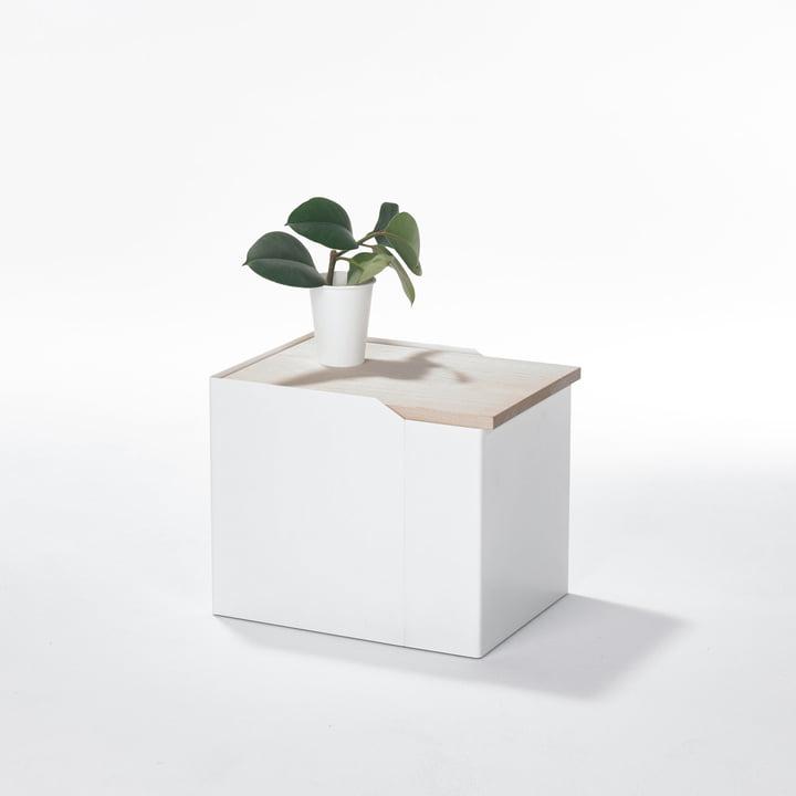 Stadnomaden - Sammler Storage Container S in Ash as Side Table