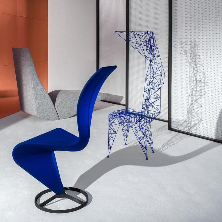 Pylon Chair, Bird Chaise Longue and S-Chair by Tom Dixon