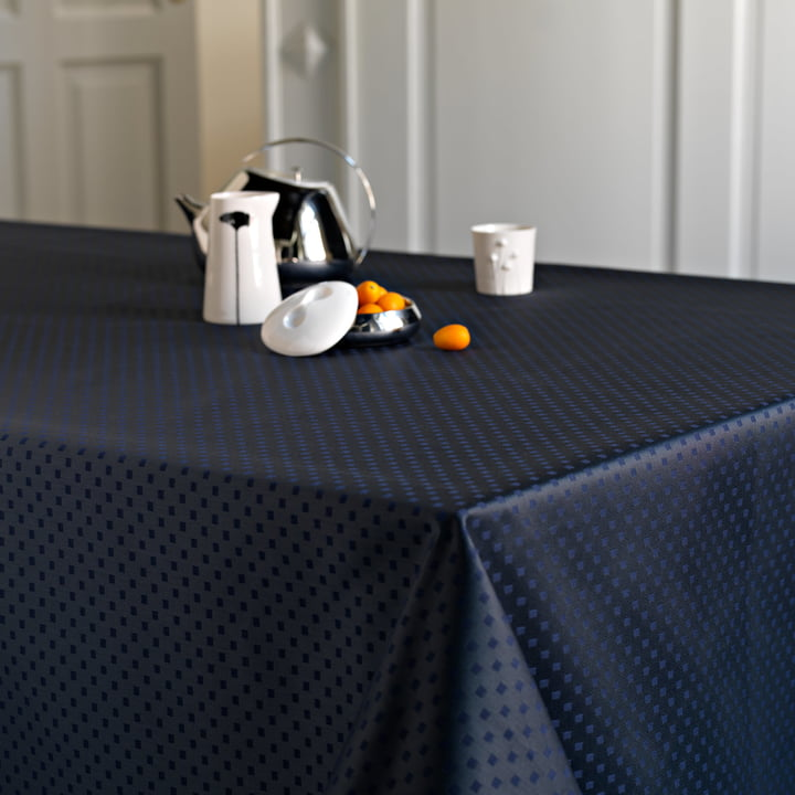 Snowflakes Tablecloth by Georg Jensen Damask on the Dining Table