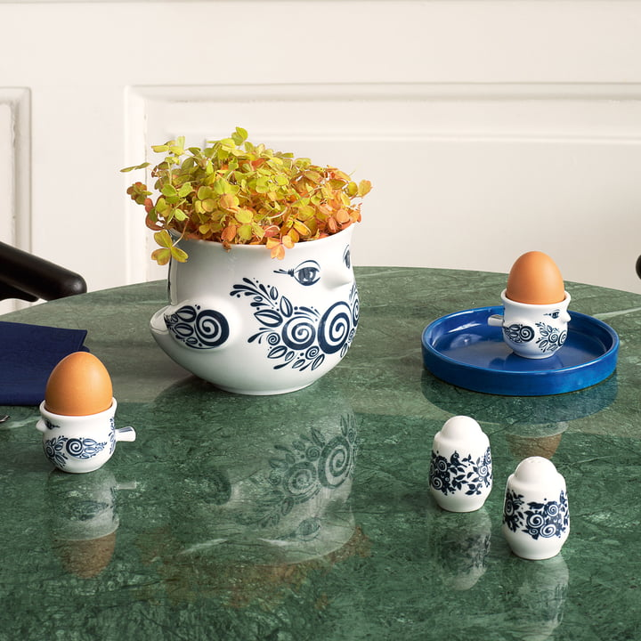 Egg Cups, Salt and Pepper Shakers and Flowerpots by Bjørn Wiinblad