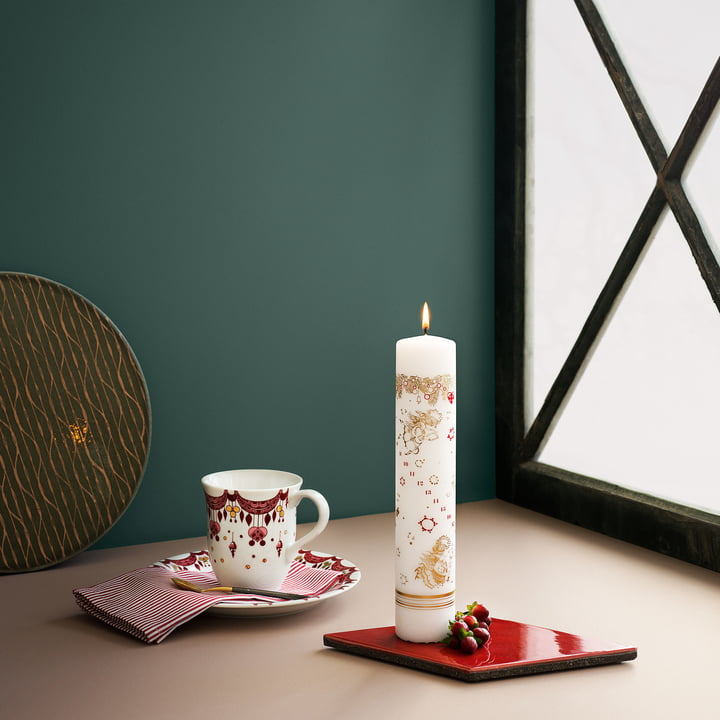 Christmas dishes and calendar candles by Bjørn Wiinblad