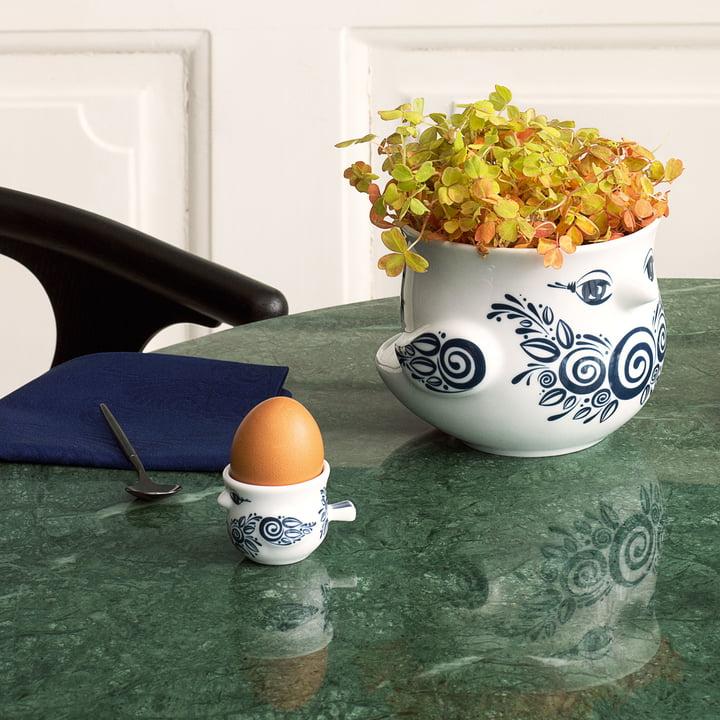 Bird Egg Cup and the Bird Flower Pot by Bjørn Wiinblad