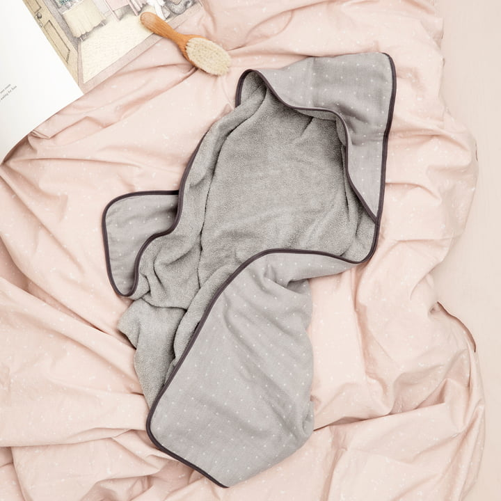Sento Hooded Towel by ferm Living in Brown