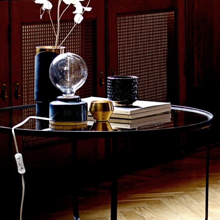 Aluminium Tealight Holder and Decorative Vase by Bloomingville