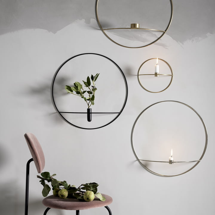 Pov Circle Candleholders, Vase and Tealight Holder by Menu