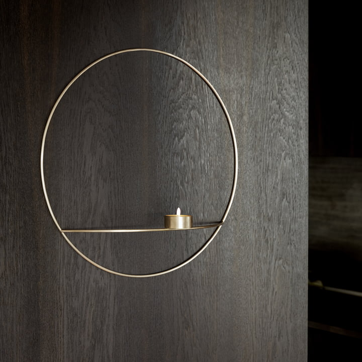 The Menu - Pov Circle Tealight Holder, L in brass