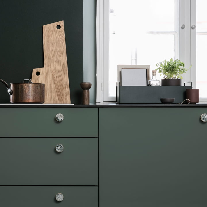 Asymmetric Chopping Board and Plant Box Small by ferm Living