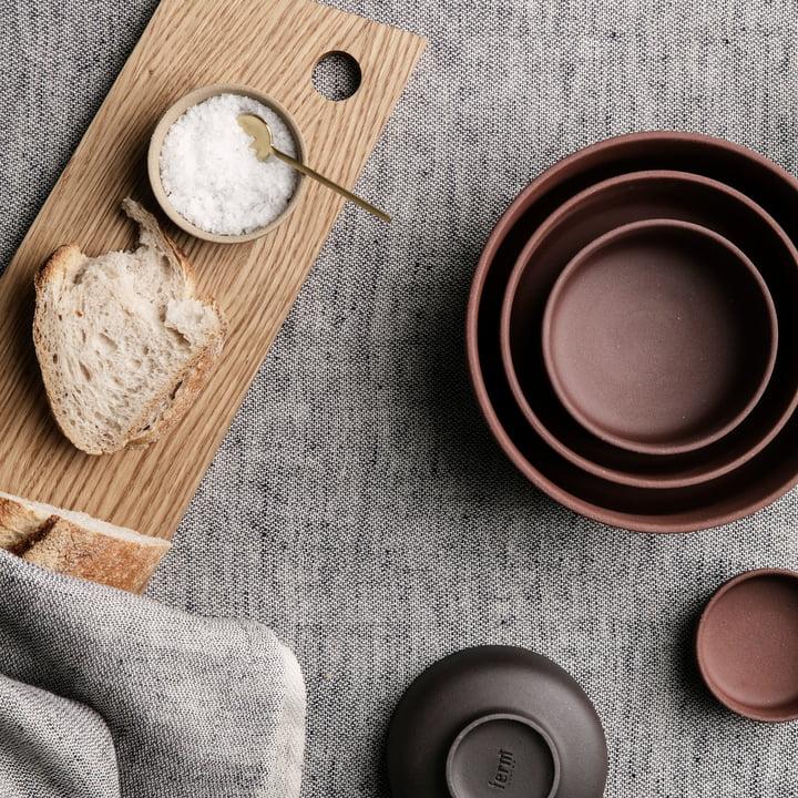 Blend Tablecloth and Sekki Bowls by ferm Living