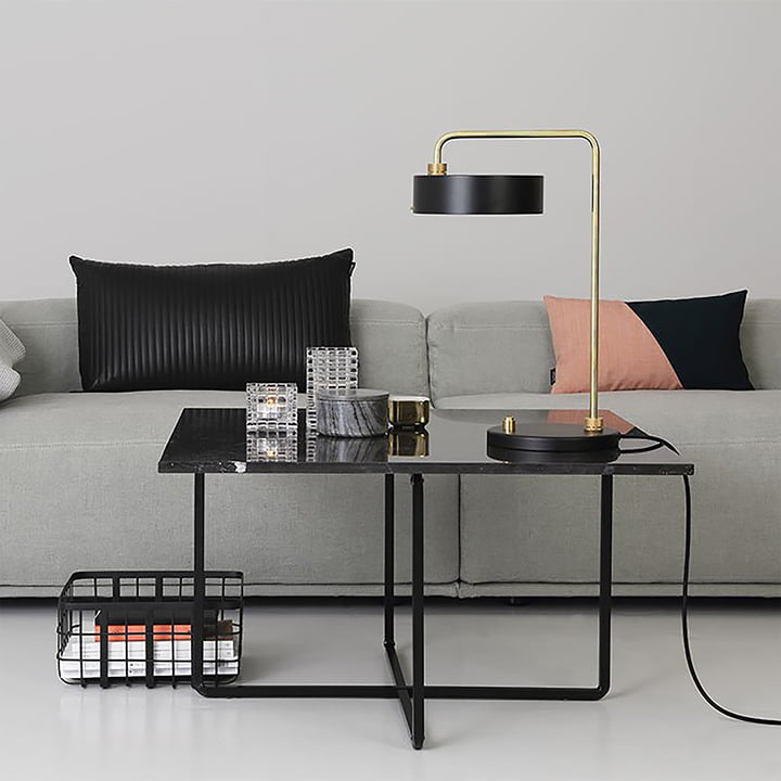 Ninety Coffee Table 80 x 80 cm by Ox Denmarq in Black Steel / Black Marble