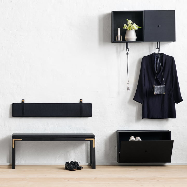 Conekt Bench and Cushions from by Lassen