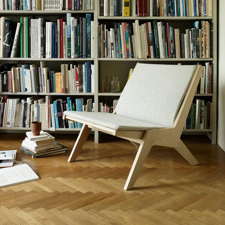Miskito Lounge Chair by Skagerak in Oak / Light Grey