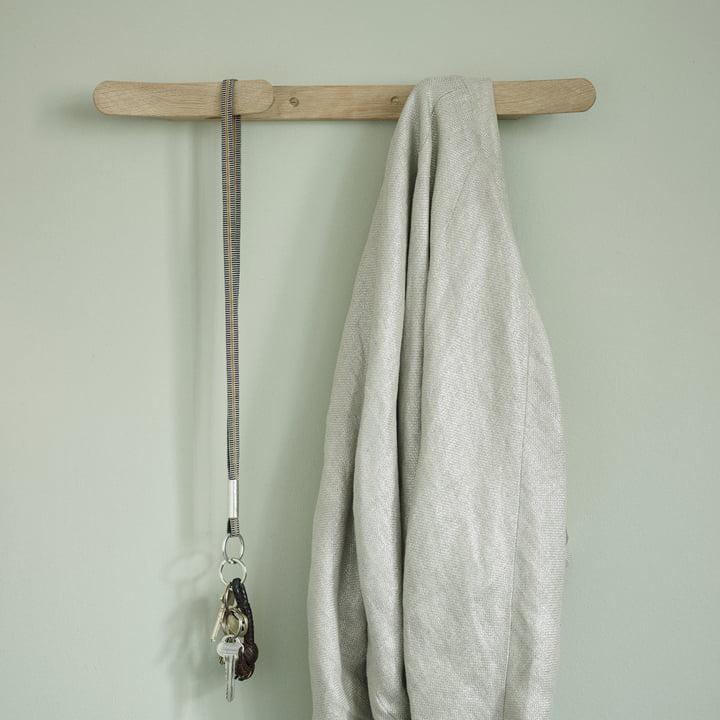 Walli Coat Rack 47 cm by Skagerak in Natural Oak