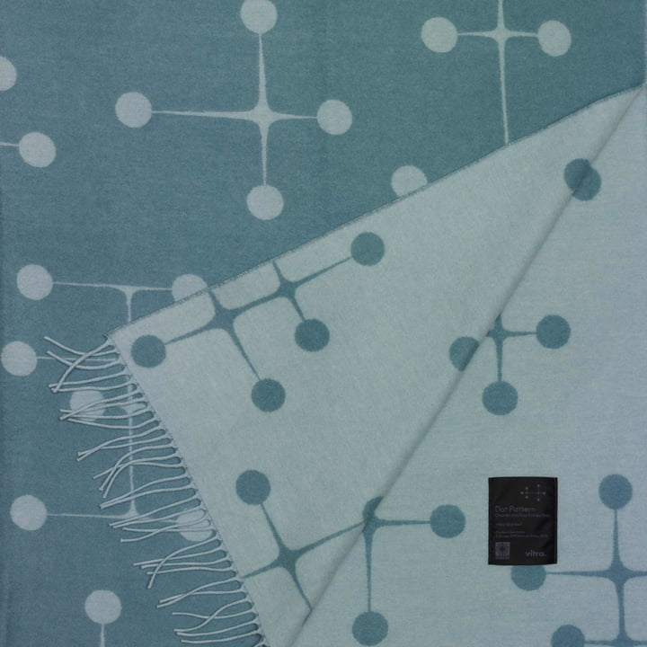 Vitra - Eames Wool Blanket, Dot, light blue