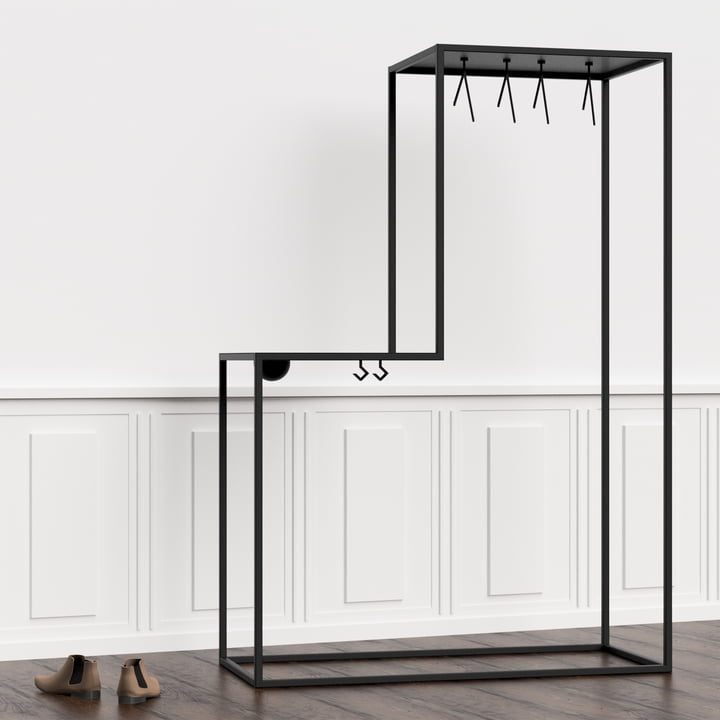 Nichba Design - Stand01 Clothes Rack in the Hallway