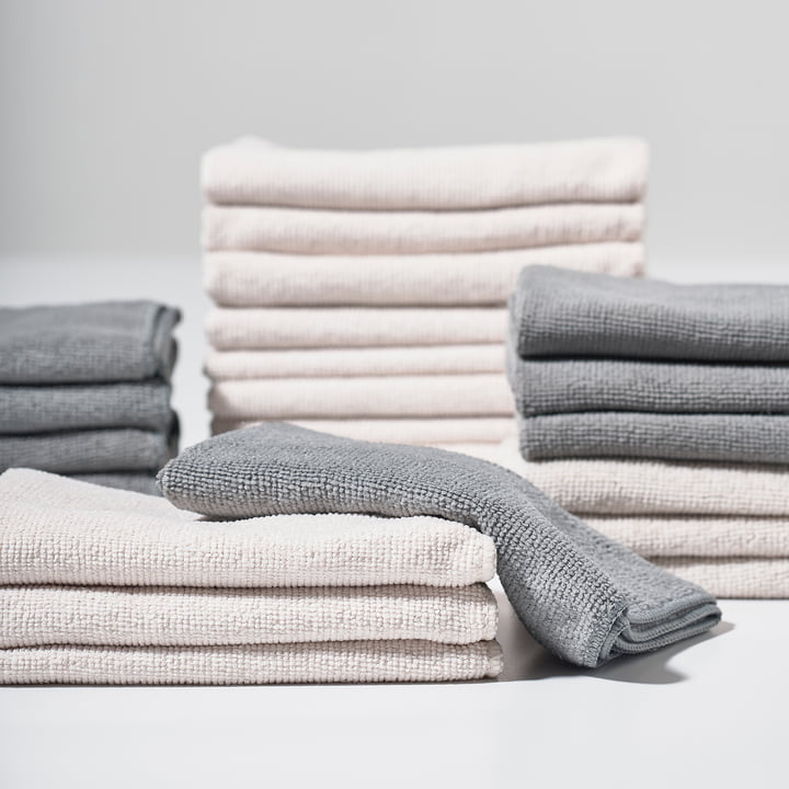The Zone Denmark - Microfibre Cleaning Cloths in Grey and Warm Grey
