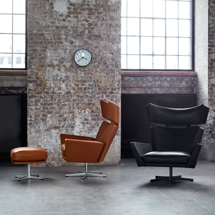 Fritz Hansen - Oksen Armchair in Black and Brown