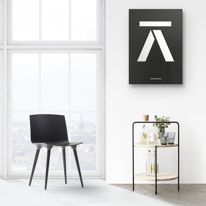 Andersen Furniture - Side Table in Black / Ash and TAC Chair Combined