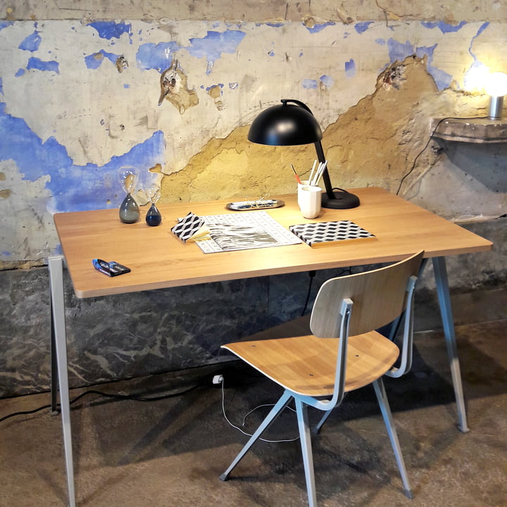 Retro Flair with Result Chair and Pyramid Table by Hay