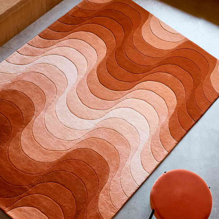 The Verpan - Wave Rug with Stool