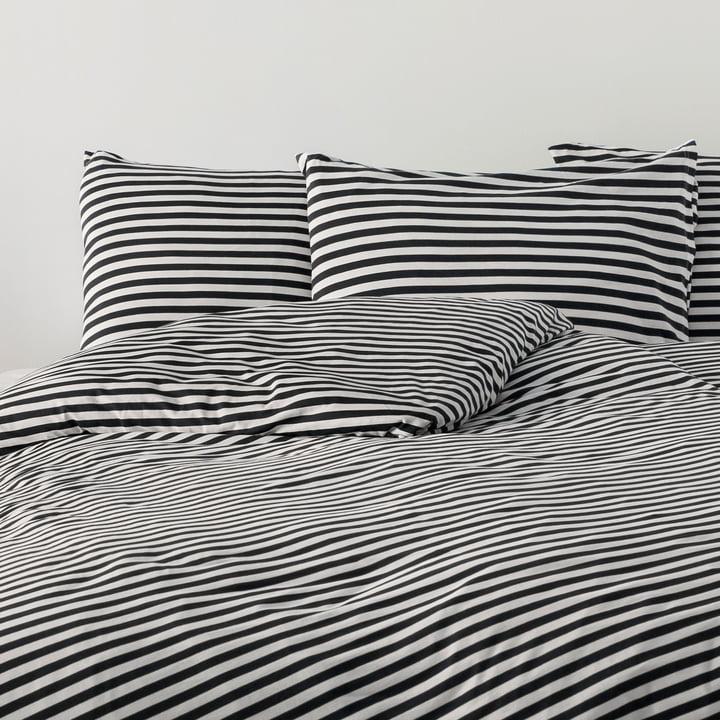 Tasaraita Pillowcase 80 x 80 cm by Marimekko in Black / White
