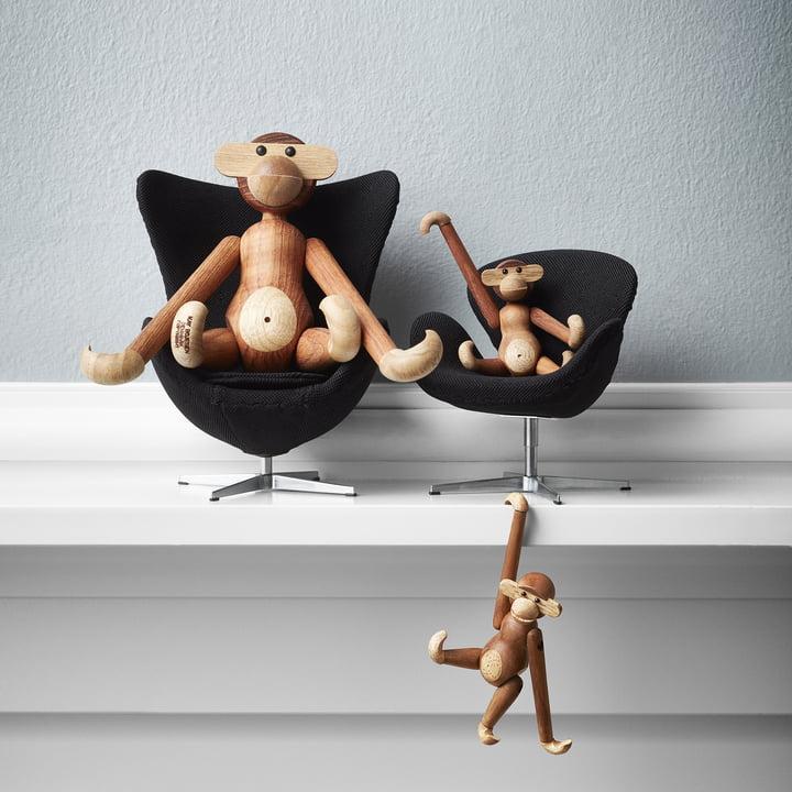 The Fritz Hansen - Miniature Egg Chair and Swan Chair
