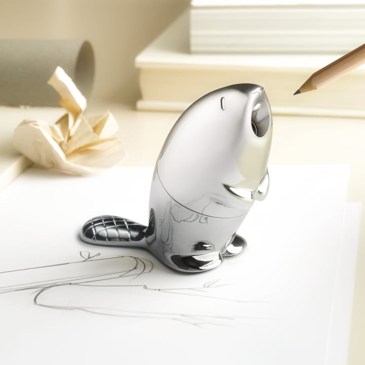The Alessi - Castor - Pencil Sharpener on the Desk