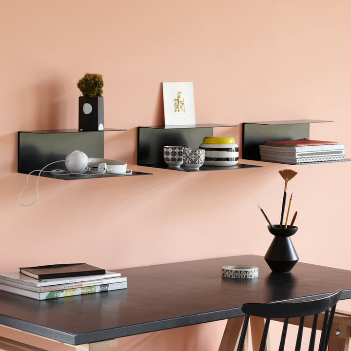 The Konstantin Slawinski - El Wall Shelf, Black Over the Desk