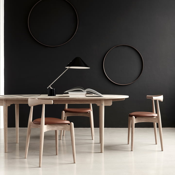 The Carl Hansen - CH20 Elbow Chair with CH337 Table