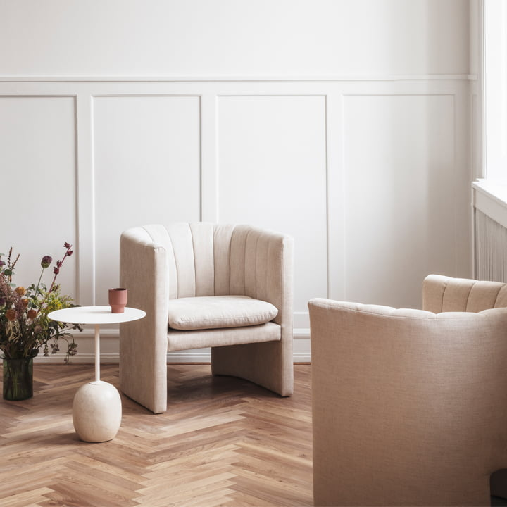 Lato Side Table and Loafer Sofa by &Tradition