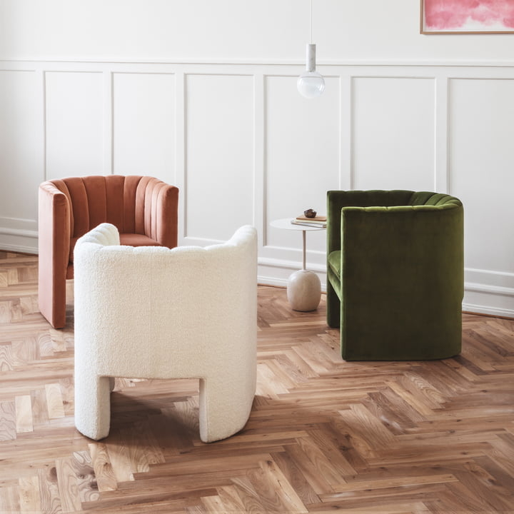 Lato Side Table, Loafer Chair and Marble Light Pendant Lamp by &Tradition