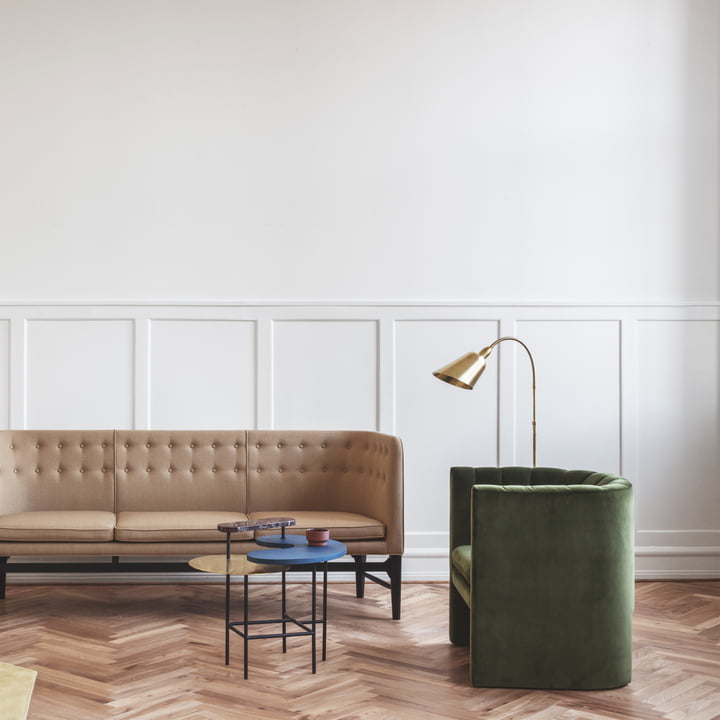Loafer Chair, Mayor sofa, Palette Coffee Table JH8 and Bellevue Floor Lamp AJ7 by &Tradition