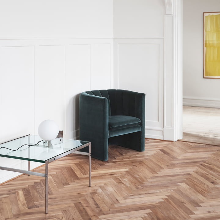 Lato Side Table, Loafer Chair and Journey Table and Wall Lamp by &Tradition