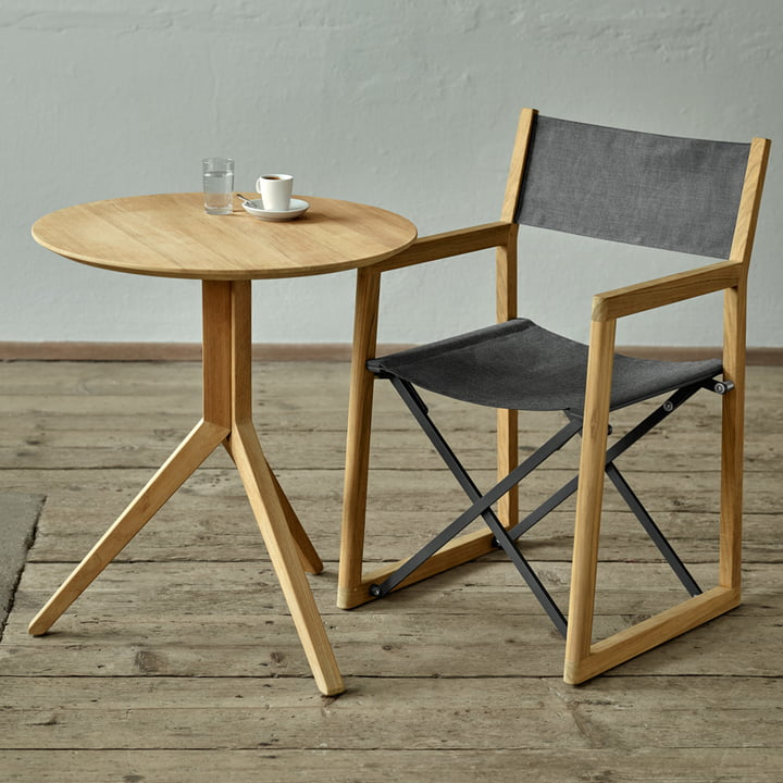 The Weishäupl - Trio Bistro Table (round) with the Loft Chair