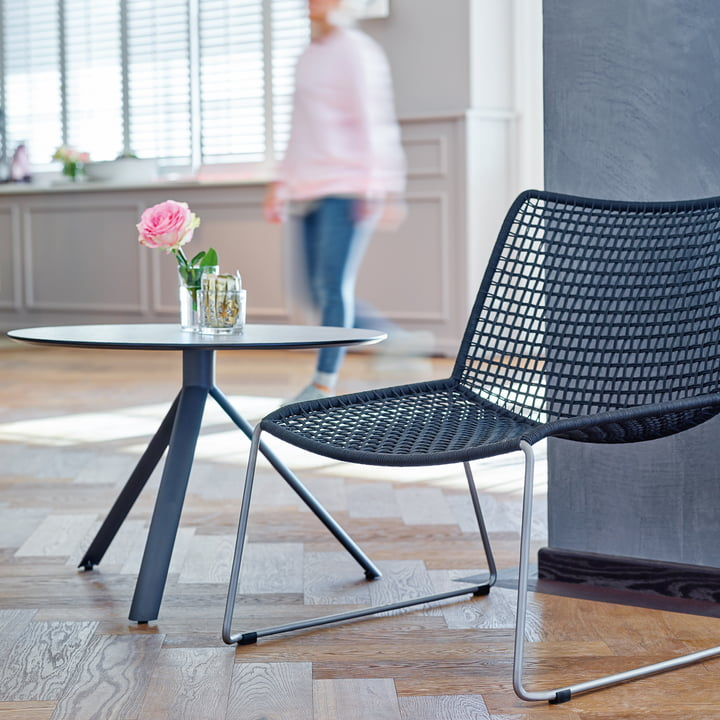 Trio Side Table and Slope Armchair