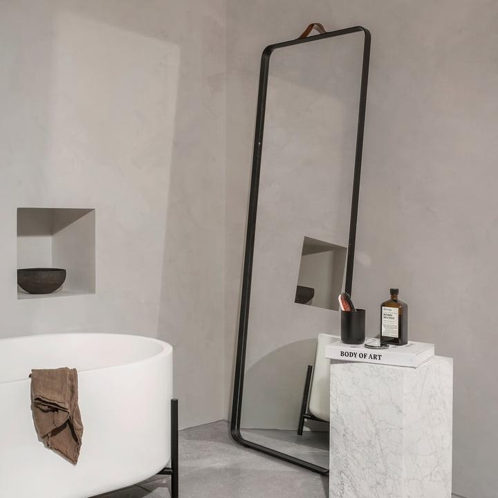 Norm Floor Mirror by Menu, black