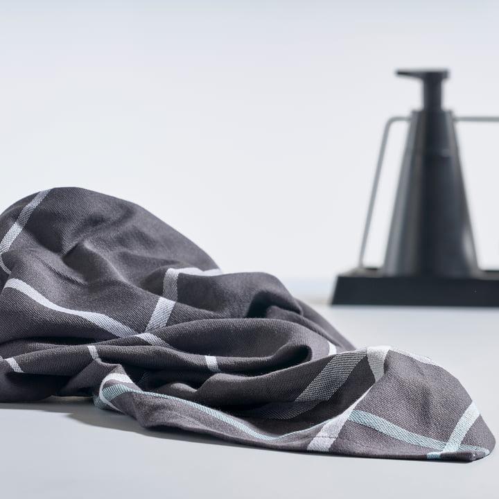 Zone Denmark - Dishcloth, 70 x 50 cm in Dark Grey / White and the Dry Art Set.