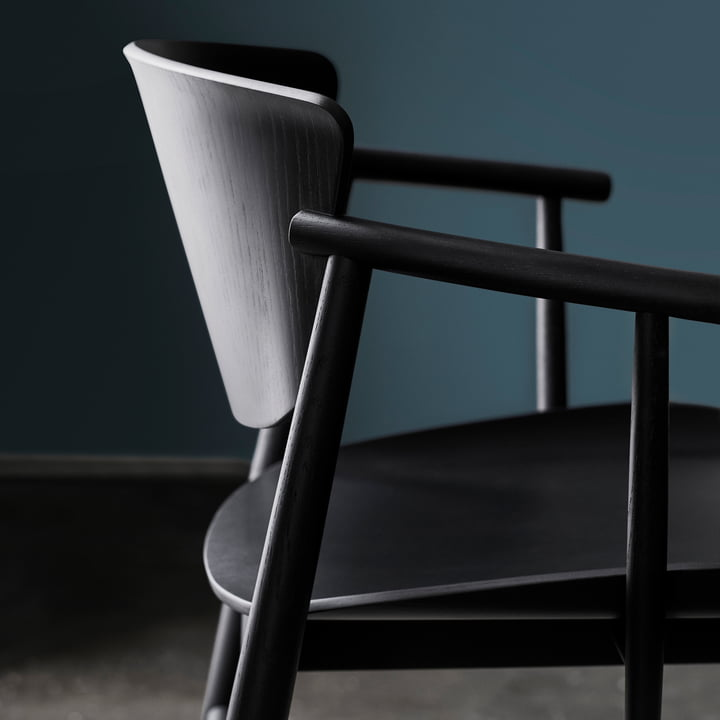 Fritz Hansen - N01 Armchair, black coloured oak
