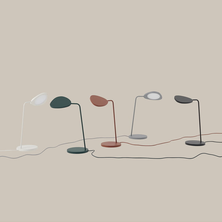 The Muuto Leaf Table Lamp in the home design shop